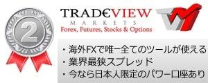 海外FXランキング2位TradeView